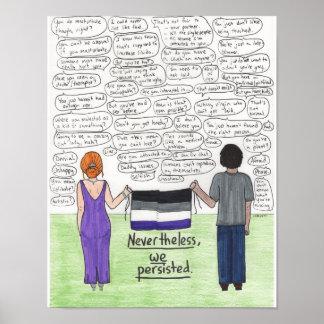 Vi framhärdade (Asexual) 11x14 Poster
