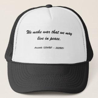 Vi gör krig, som vi kan bo i fred., Aristot… Keps