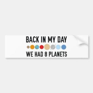 Vi hade åtta planet bildekal