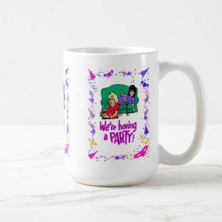 Vi har ett party, möhippa kaffemugg