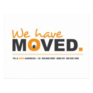Vi har flyttat den orange röra meddelandevykortet vykort