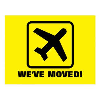 Vi har flyttat hyvlar rörs vykort för nytt adress