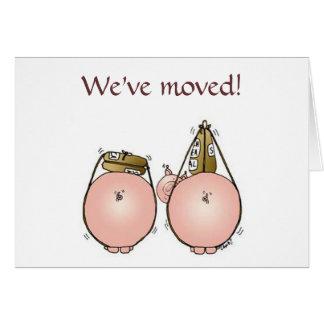 Vi har flyttat! Inflyttnings- invitation. OBS Kort