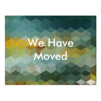Vi har flyttat meddelande vykort