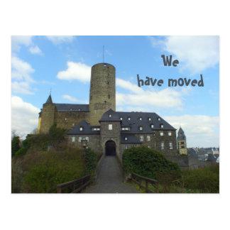 Vi har flyttat - slottbevekelsegrundkort vykort