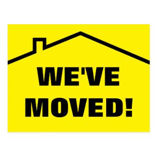 Vi har flyttat som flyttar vykort för nytt adress