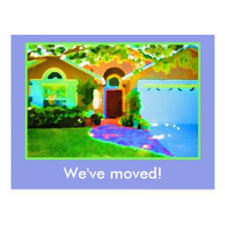 Vi har flyttat! vykort