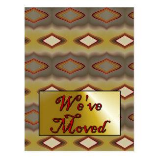 Vi har flyttat vykort