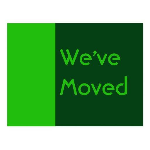 vi har flyttatgrönt vykort