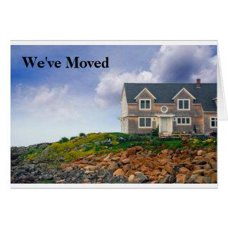 Vi har flyttatkort hälsningskort