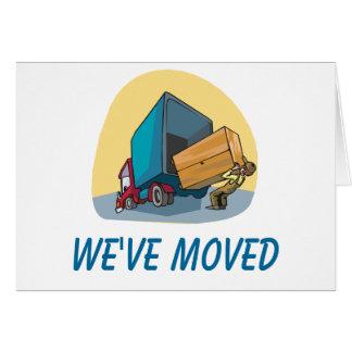 Vi har flyttatkort OBS kort