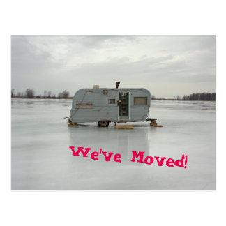 Vi har flyttatsläphusvagn vykort