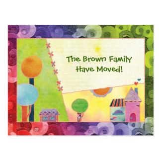 Vi har nya hem- meddelanden som flyttar vykort