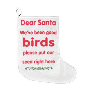 vi har varit bra fåglar stor julstrumpa