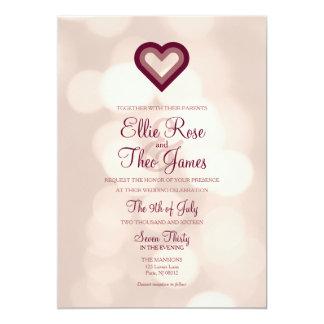 Vi hjärta Bokeh tänder bröllopinbjudan 12,7 X 17,8 Cm Inbjudningskort