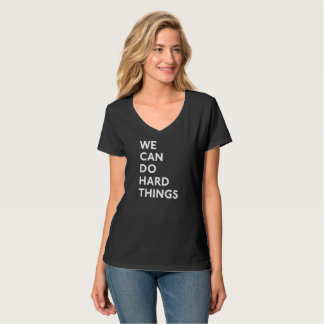 Vi kan göra den hårda sakV-Nacken T-tröja Tröja