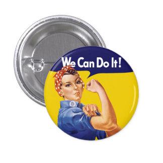 Vi kan göra det! Rosie riveteren Mini Knapp Rund 3.2 Cm