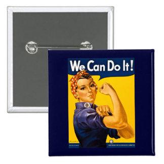Vi kan göra det! Rosie Rivetervintagen WW2 Knapp Med Nål