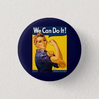 Vi kan göra det! Rosie Rivetervintagen WW2 Mini Knapp Rund 3.2 Cm