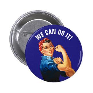 Vi kan göra det standard knapp rund 5.7 cm