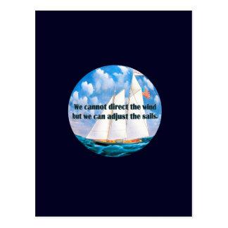 Vi kan inte rikta vinden men… vykort