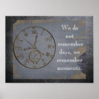 Vi minns ögonblick - citera om liv - konsttrycket poster