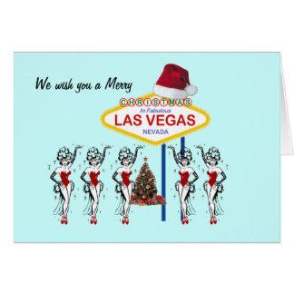 Vi önskar dig ett god julLas Vegas kort