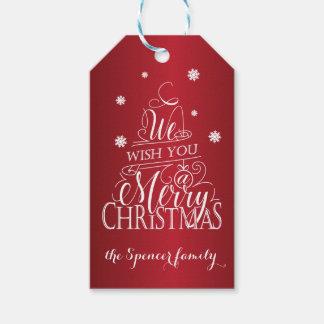 Vi önskar dig god jul presentetikett