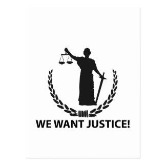 Vi önskar rättvisa vykort
