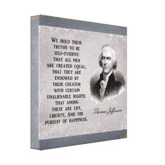 Vi rymmer dessa trurths - Thomas Jefferson Canvastryck