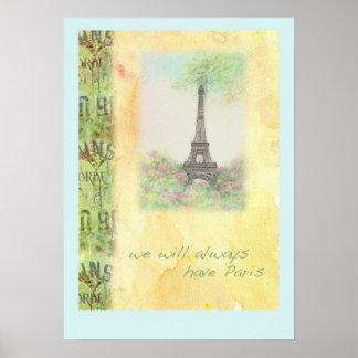 VI SKA HAR ALLTID DEN PARIS illustrerade AFFISCHEN Poster