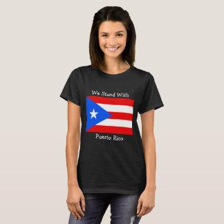 Vi står med den Puerto Rico flaggaskjortan Tee