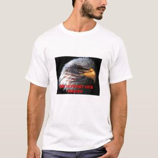Vi stöttar våra soldater tee shirt