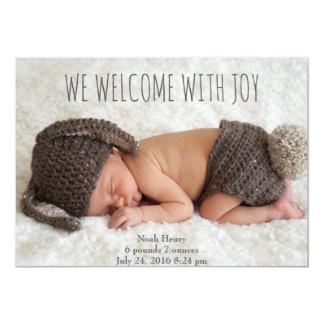 Vi välkomnar med glädje: Minimalist 12,7 X 17,8 Cm Inbjudningskort