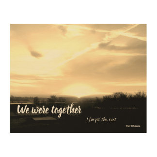 Vi var tillsammans… trätavla