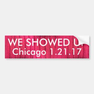 Vi visade upp Chicago Bildekal