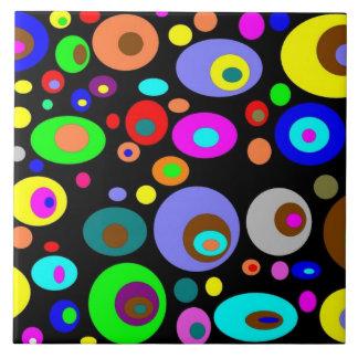 Vibrerande abstrakt cirklar kakelplatta