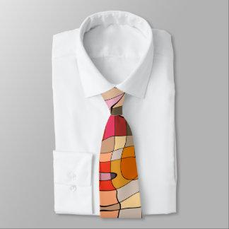 Vibrerande abstrakt mönster slips