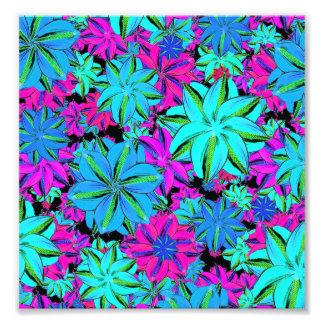 Vibrerande blom- Collage Fototryck