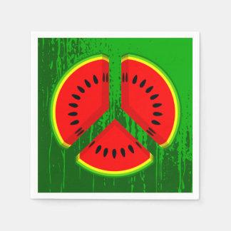 Vibrerande färger för vattenmelonfred servett