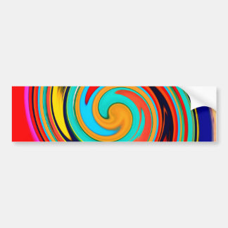 Vibrerande färgrik abstrakt virvlar runt av smältt bildekal