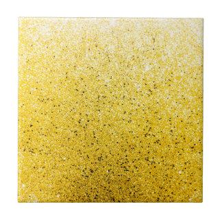 Vibrerande Glittery guld- gnistra Liten Kakelplatta