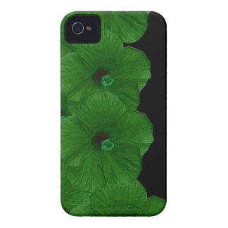 Vibrerande gröntblommor iPhone 4 cases