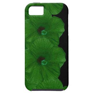 Vibrerande gröntblommor iPhone 5 skydd
