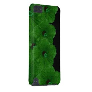 Vibrerande gröntblommor iPod touch 5G fodral