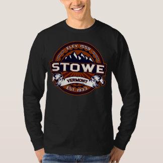 Vibrerande mörk för Stowe logotyp Tee Shirt