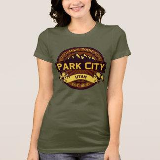 Vibrerande Park City färglogotyp Tee Shirts