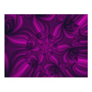 Vibrerande purpurfärgad röra sig i spiral fractal. vykort