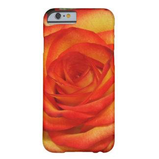 Vibrerande röd och rosa makrofoto för persika barely there iPhone 6 skal