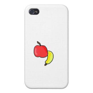 Vibrerande roligt för Apple Bananna frukt iPhone 4 Cover